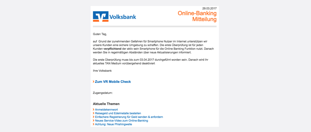2017-03-29 Volksbank Phishing VR Mobile Check