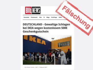 500 Euro Geschenkgutschein bei IKEA Fake