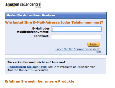 Amazon Seller Central Fake Login Spam Mail