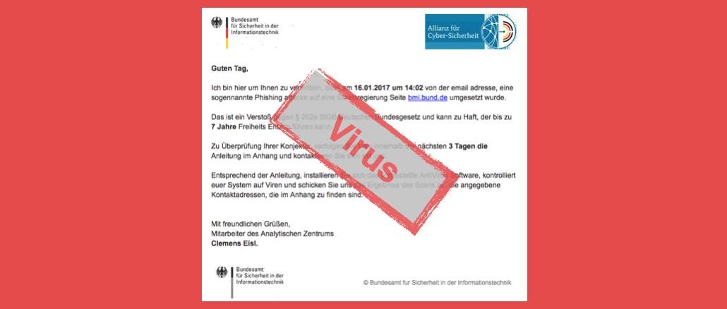 BSI Virus Angriff Staatsregierung Betrug