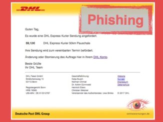 DHL Paket Phishing E-Mail