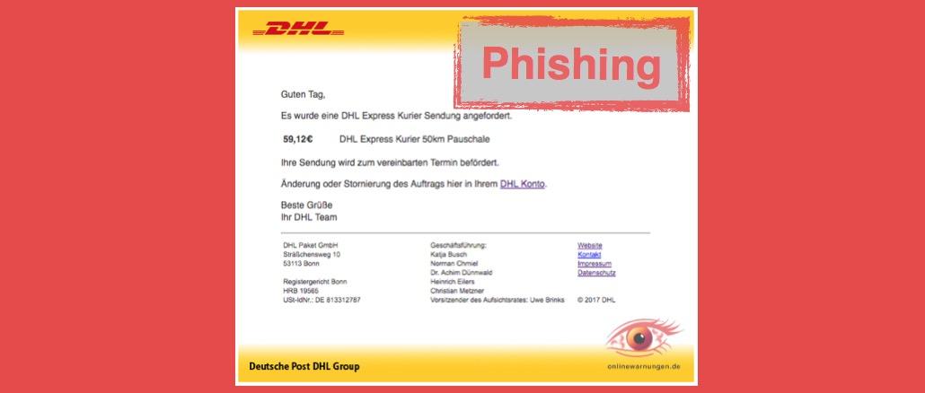 DHL Paket Phishing E-Mail