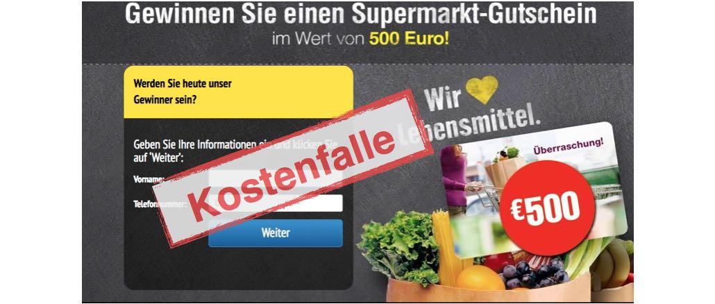 """E-Mail """"Supermarkt vergibt 500 Euro Gutschein"""" ist kein Gewinnspiel von Edeka"""