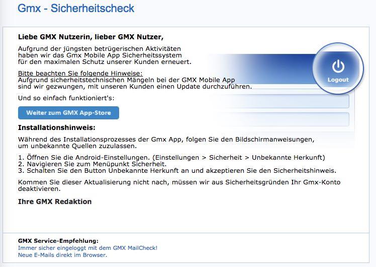 GMX Fake-Mail Info - GMX