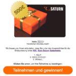 Gewinnspiel Saturn Gutschein Planet49