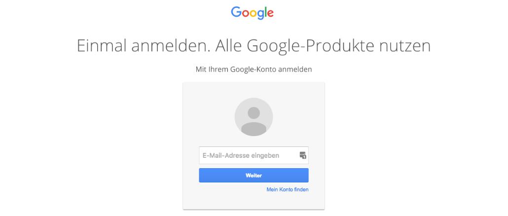 Google Passwort eingeben