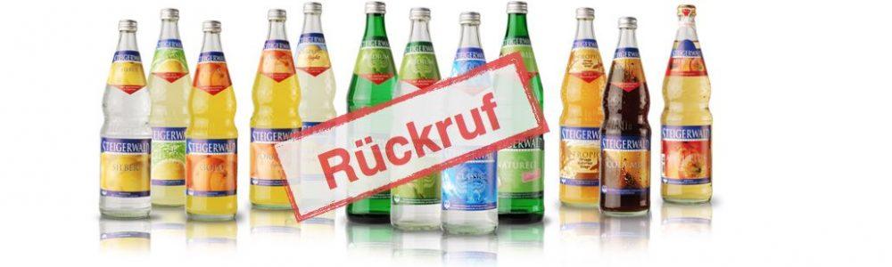 Rückruf erweitert: Limonade und Mineralwasser – 4 Marken von Rückruf betroffen