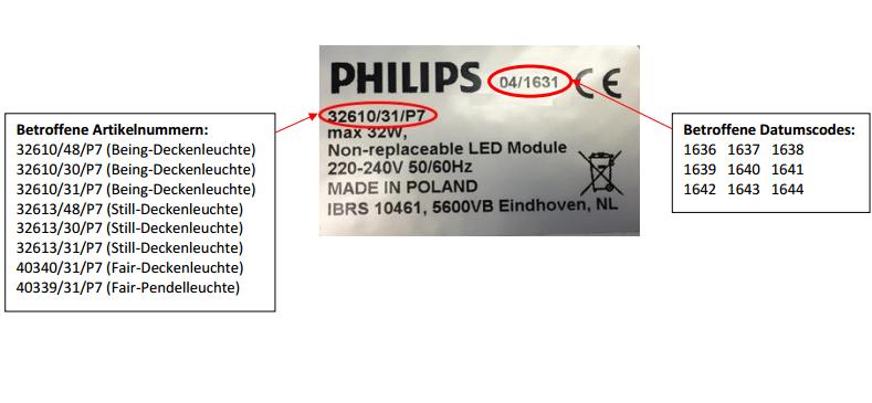 Philips Rückruf: Probleme bei Philips Hue Deckenleuchten