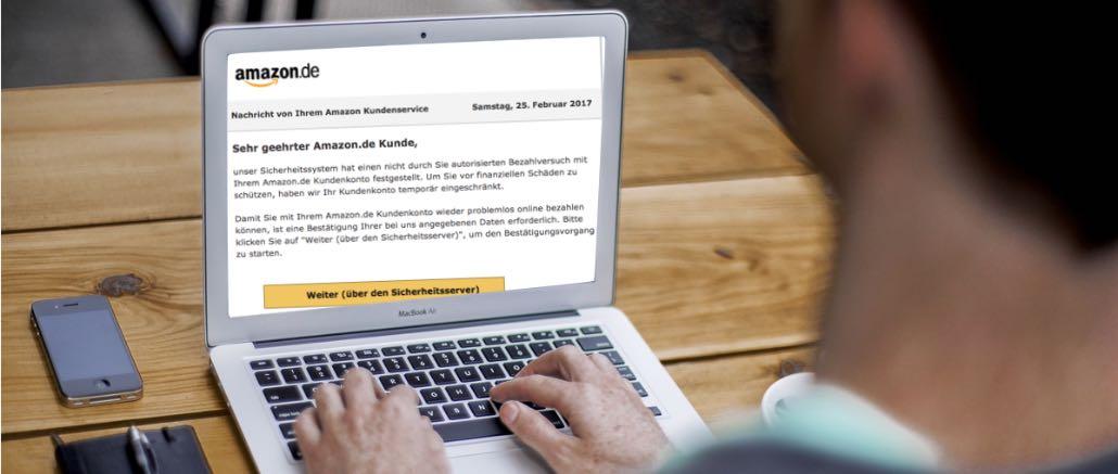Phishing Nachricht von Ihrem Amazon Kundendienst