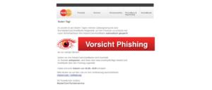 Phishing Spam Mastercard Verifizierung