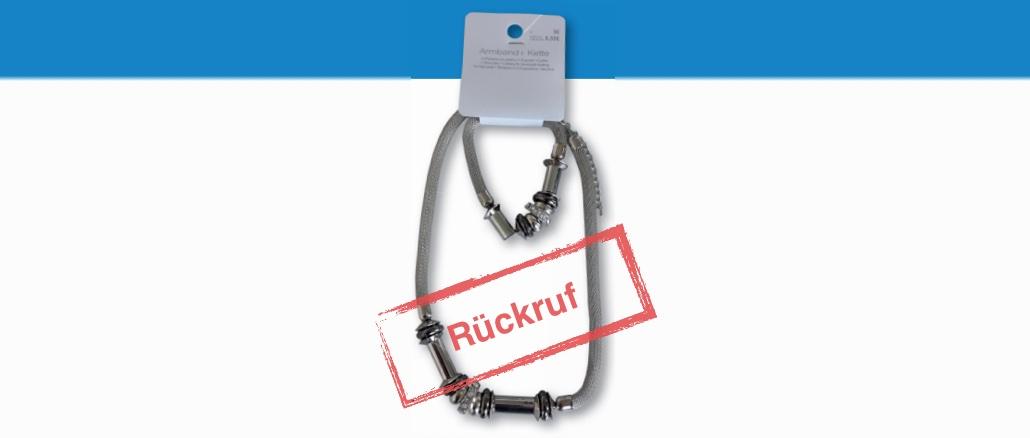 TEDi Rückruf: Schmuckset Armband + Kette wegen erhöhter Nickelwerte