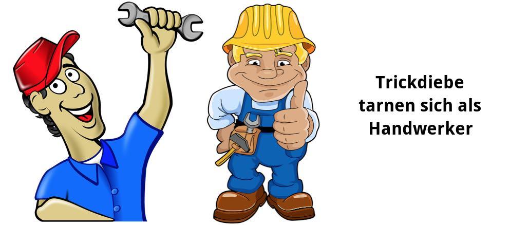 Handwerker zeichnung  Vorsicht: Betrüger verschaffen sich als Handwerker Zutritt und stehlen