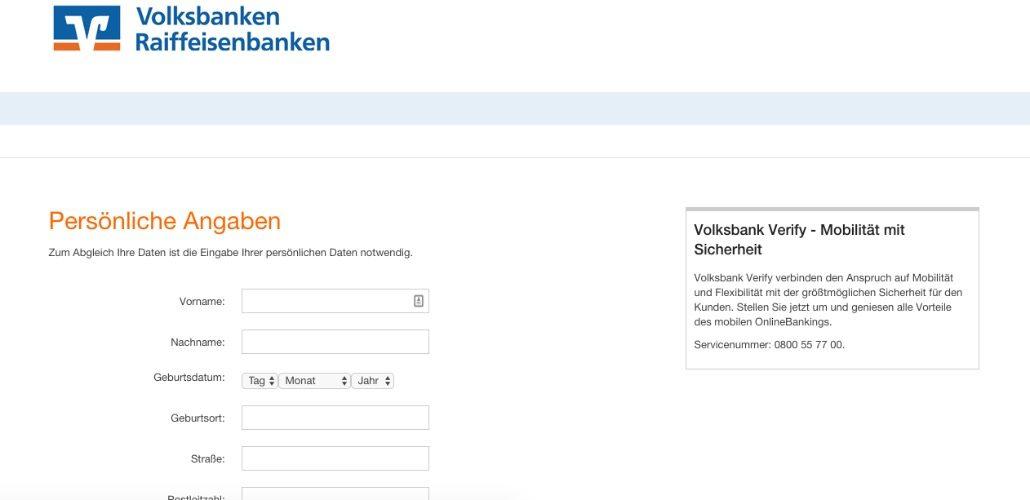 Nach der Anmeldung werden Ihre vollständigen persönlichen Daten abgefragt und an die Kriminellen übertragen. (Screenshot)