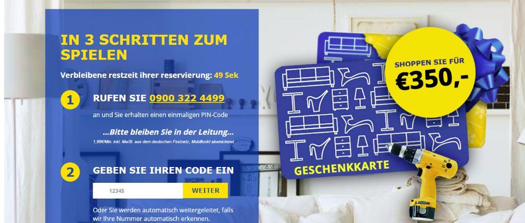 Vorsicht Abzocke IKEA Gutschein 350 Euro