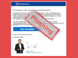 Warnung 1und1 Phishing