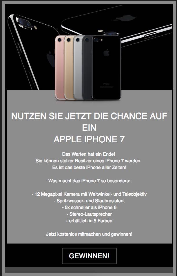 Iphone 7 Gewinnspiel Am Handy
