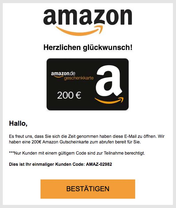 Amazon Gutschein Karte.Vorsicht Abzocke Hinter 200 Amazon Gutschein Steckt