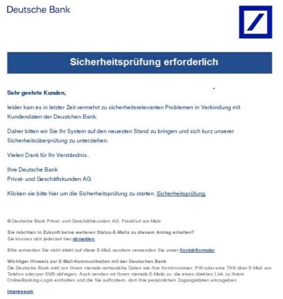 2017 03 03 deutsche bank phishing - Deutsche Bank Bewerbung