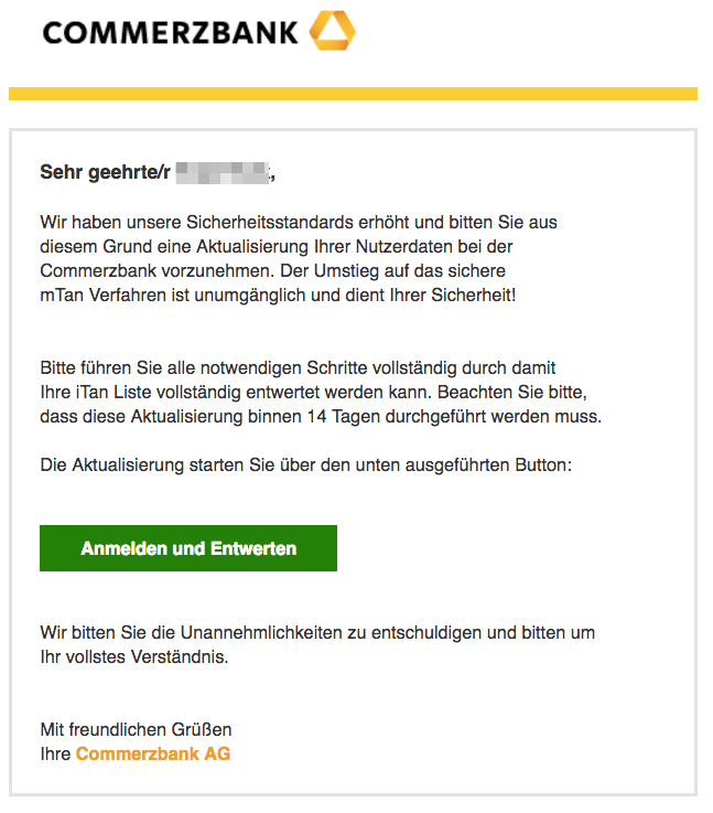 2017-03-16 Commerzbank Spam Mail Phishing