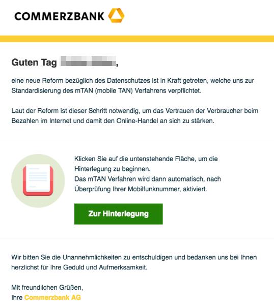 2017-03-24 Commerzbank Phishing Mail mTAN