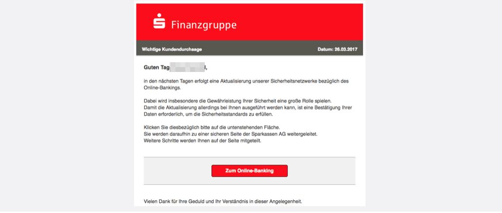 2017-03-26 Sparkasse Email Spam Sparkassen-Finanzgruppe