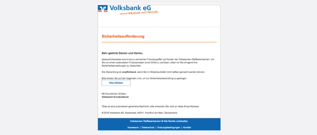 2017-03-30 Volksbank Spam Mail
