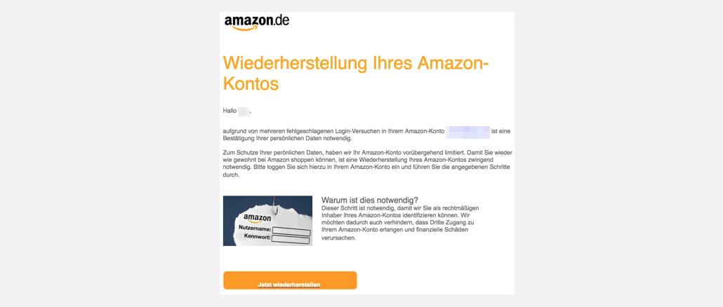 2017-04-04 Wiederherstellung Ihres Amazon-Kontos Phishing Spam