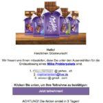 2017-07-01 Milka Probierpaket Spam Mail