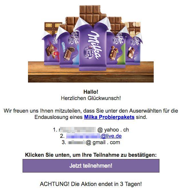 Milka Gewinnspiel Probierpaket