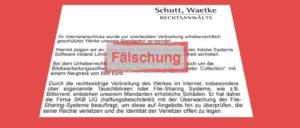Abmahnung Schutt Waetke Fake Virus