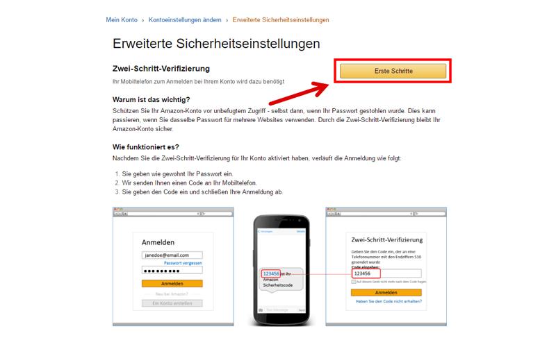 amazon zwei schritt verifizierung sms kostenlos