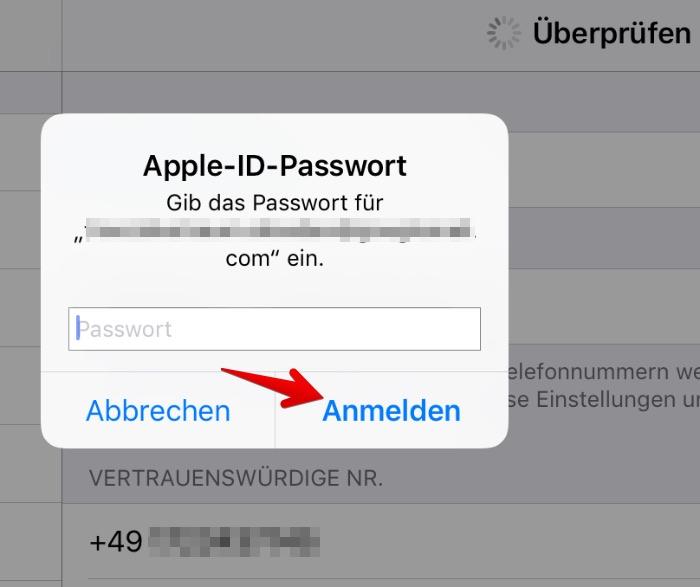 apple id handynummer ändern