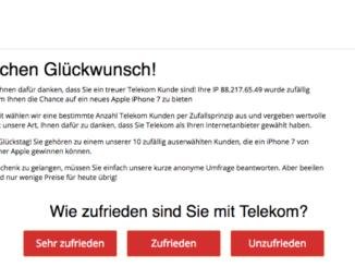 Browser Pop-up Telekom