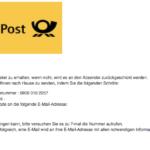 """Deutsche Post: E-Mail """"Sie haben ein Paket bei der Post"""" ist Kostenfalle - Vorsicht"""