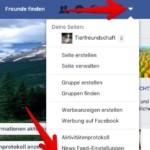 Facebook App Einstellungen 1
