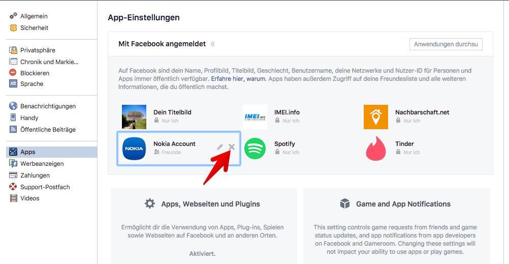 Facebook Anleitung App Einstellungen Verwalten Und Berechtigungen