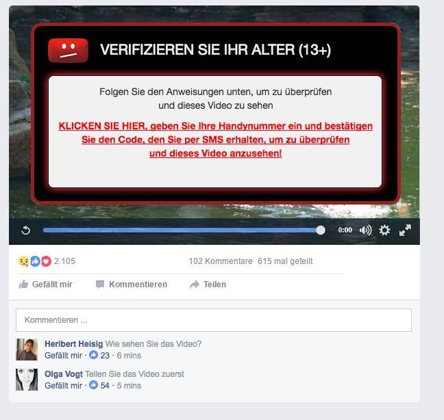 Facebook Video Abofalle 2
