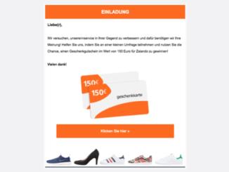 Gewinnspiel E-Mail Zalando Gutschein