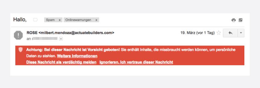 Gmail-Warnung-vor-Spam