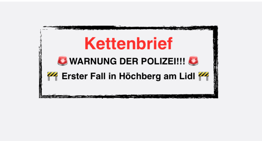 """WhatsApp und Facebook: Kettenbrief """"WARNUNG DER POLIZEI!!!"""" verunsichert Autofahrer"""