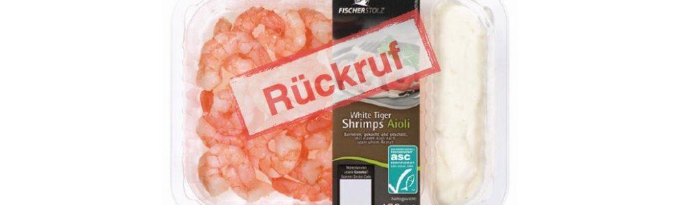 Lidl ruft Fischerstolz White Tiger Shrimps Aioli zurück