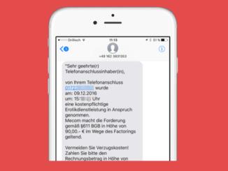 Mecom Rechnung SMS Erotik