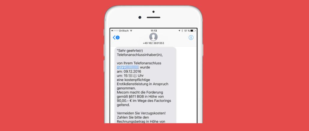 Erotik Auf Rechnung : meveco rlf rovema mahnung per sms f r erotikdienstleistung ~ Themetempest.com Abrechnung
