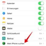 Mein iPhone suchen aktivieren deaktivieren 2