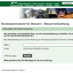 Phishing Webseite Bundeszentralamt Steuern