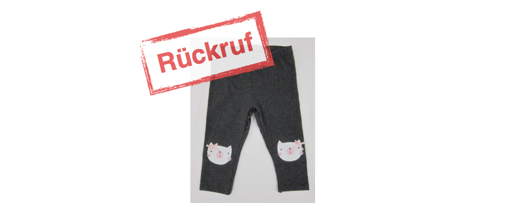 Primark Rueckruf Leggings Katzen-Applikation