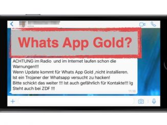 Warnung WhatsApp Kettenbrief zu Whats App Gold Trojaner