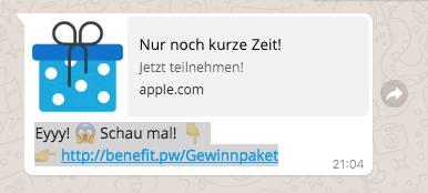 WhatsApp Eyyy Schau mal Gewinnspiel