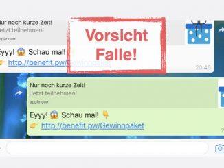 WhatsApp Kettenbrief Geschenk Gewinn iPhone
