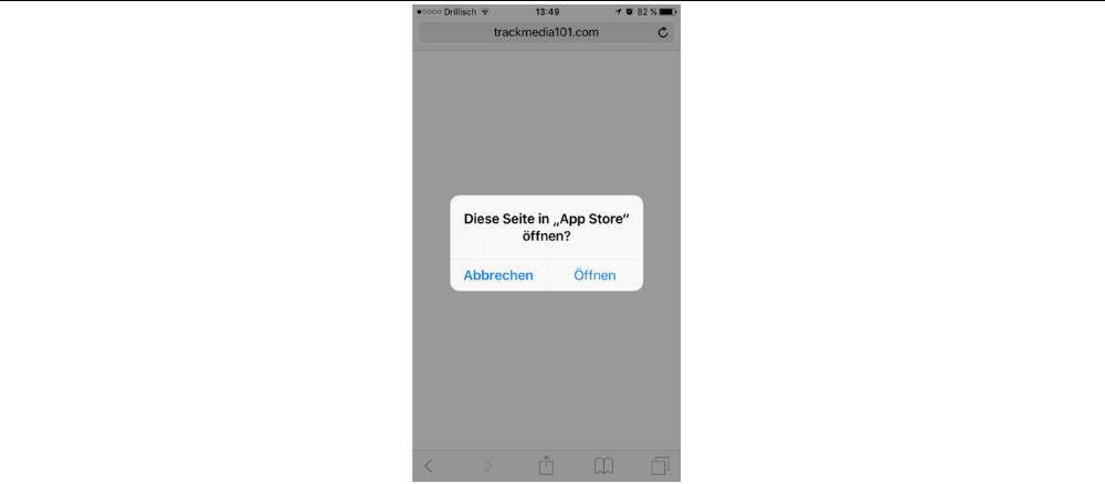 Zum Glück führt Sie der Link auf dem iPhone nur in den App Store zu beliebigen Apps. Damit ist es unwahrscheinlich, dass Sie sich schädliche Apps herunter laden.